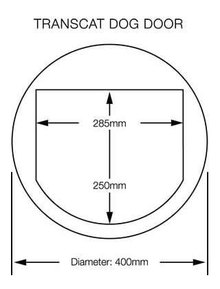 Transcat Dog Door Dimensions