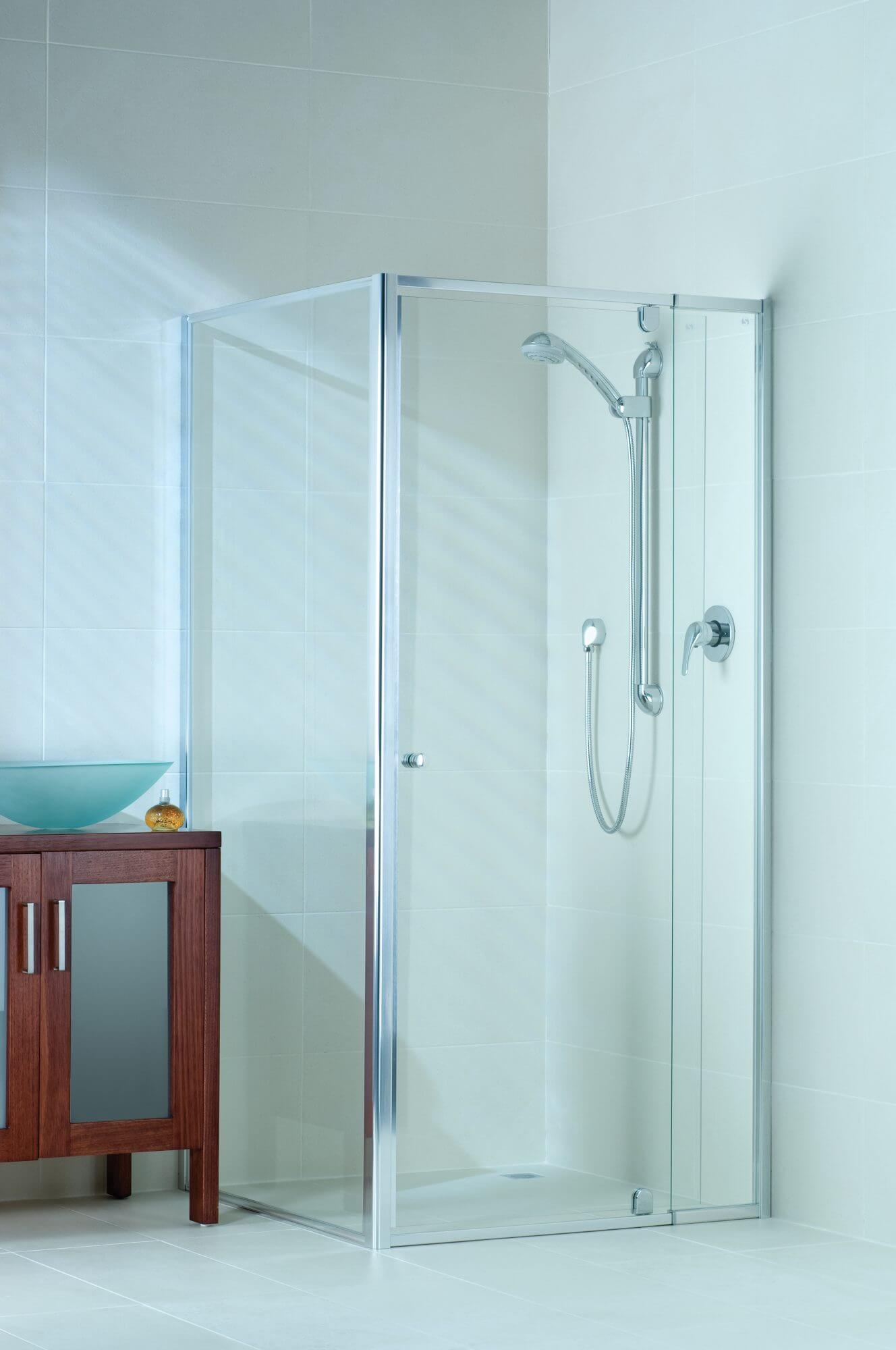 Semi-Frameless Shower Screen (Chrome)