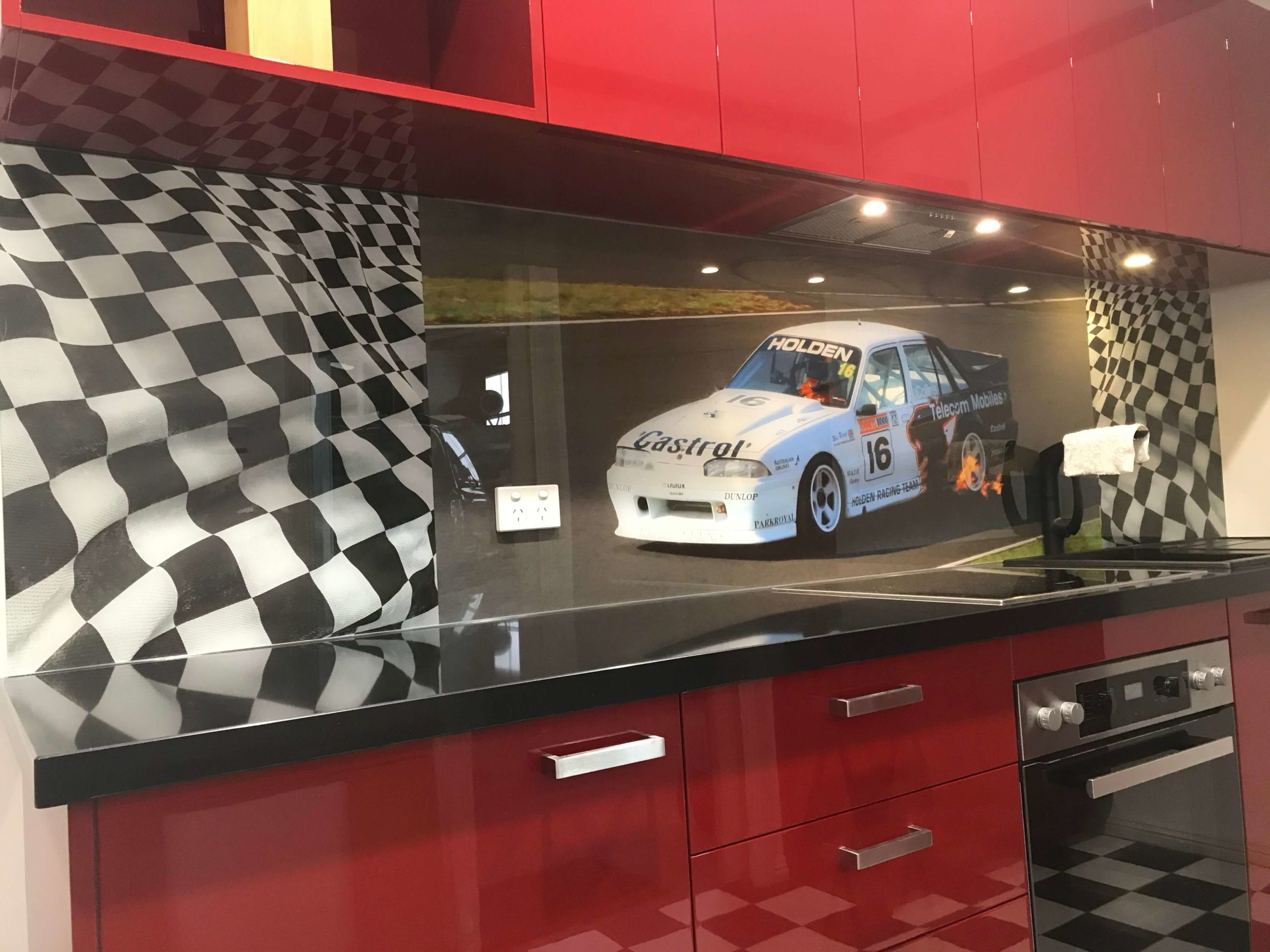 Printed Glass Splashback - Car