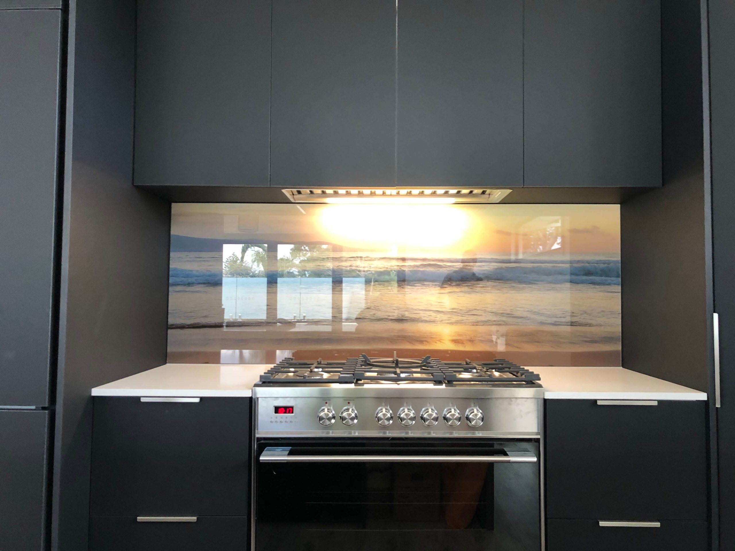 Printed Glass Splashback - Beach