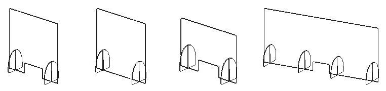 Acrylic Sneeze Guards - Flat Pack Models