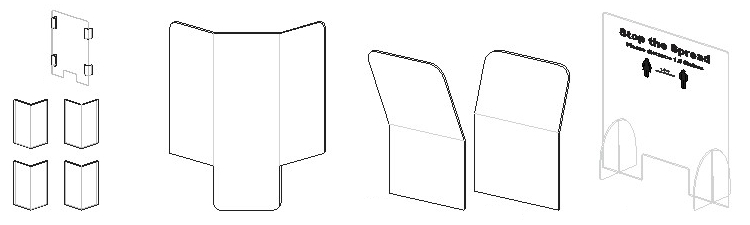 Acrylic Sneeze Guards -Folded Guide