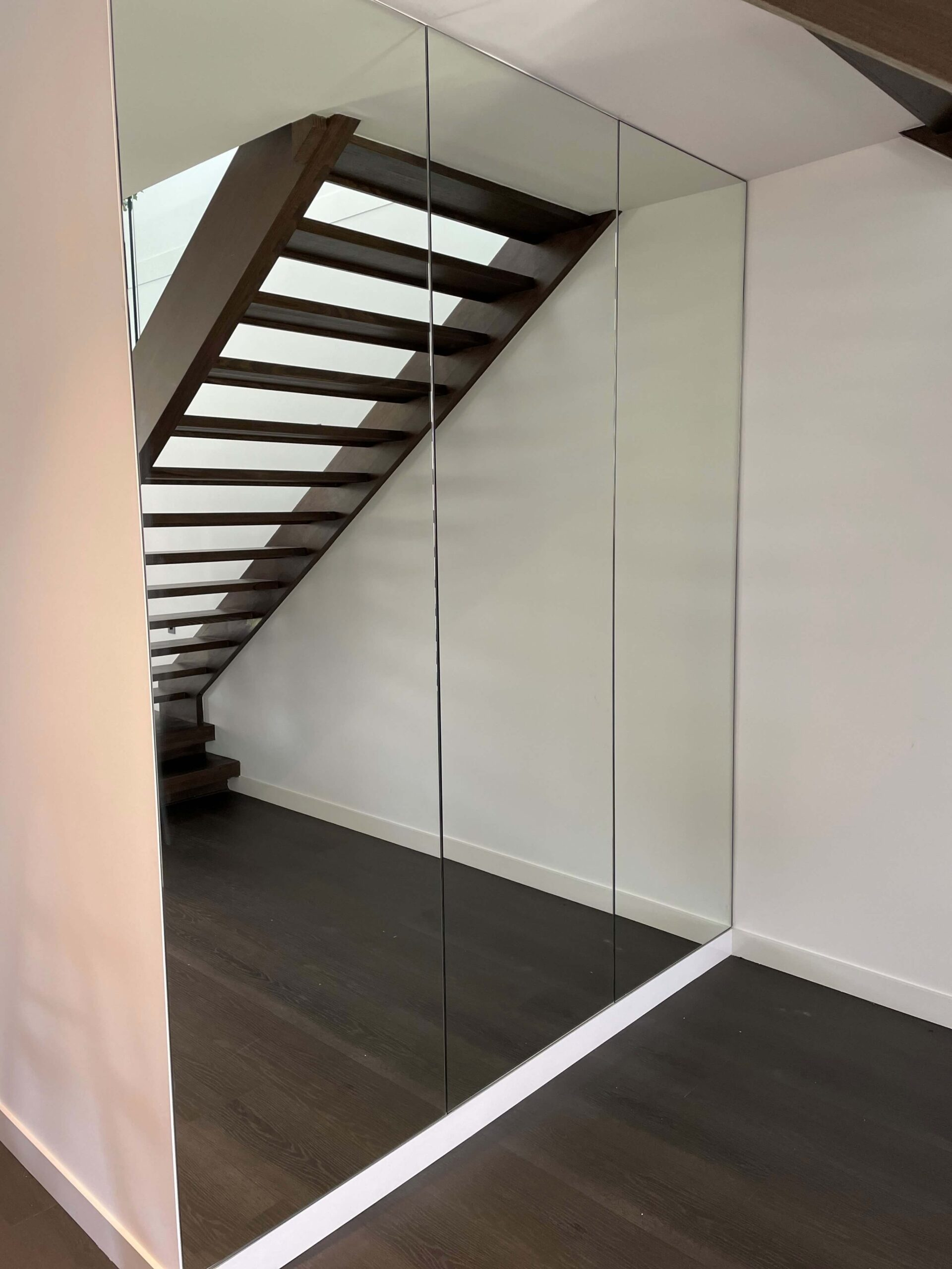 Full Size Mirrors Fitted under Staircase